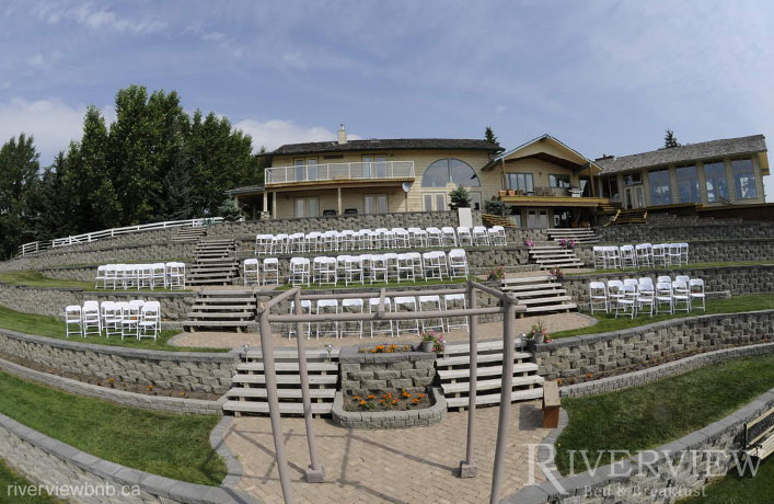 outdoor wedding okotoks beautiful setting